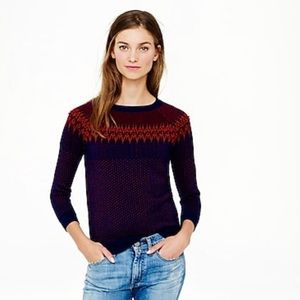 NWT jcrew fair isle sweater - vintage inspired